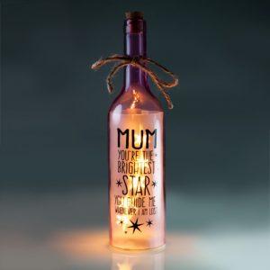 Mum Wishlight Bottle - Mum You're The Brightest Light