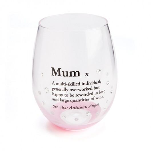 Mum Wine Glass - Stemless