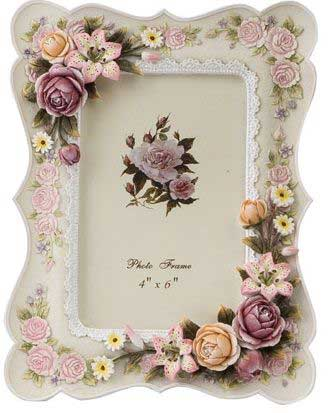 Pink Floral Frame - Vintage Look
