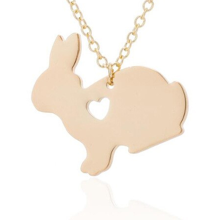 Rabbit Necklace - Gold - Fashion Jewellery - Bunny Gift