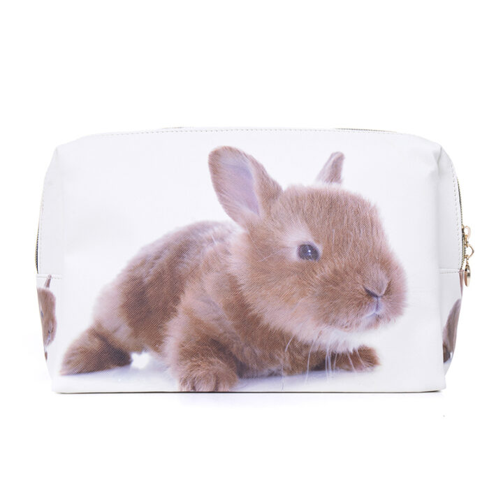 Rabbit Cosmetic Bag Clutch Purse - Easter Gift