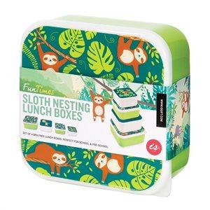 Sloth Lunch Box - Set of 4
