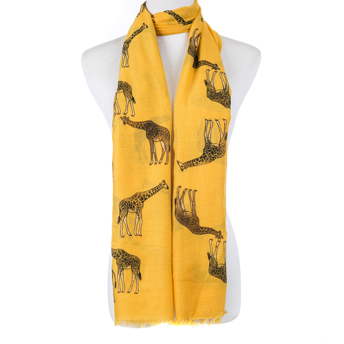 Giraffe Scarf - Yellow - Light