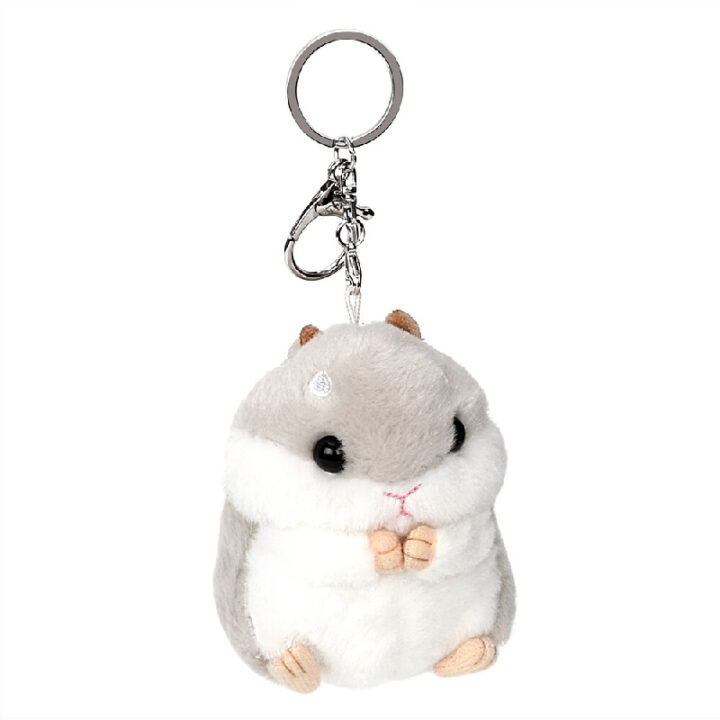 Guinea Pig Plush Key Chain - Grey