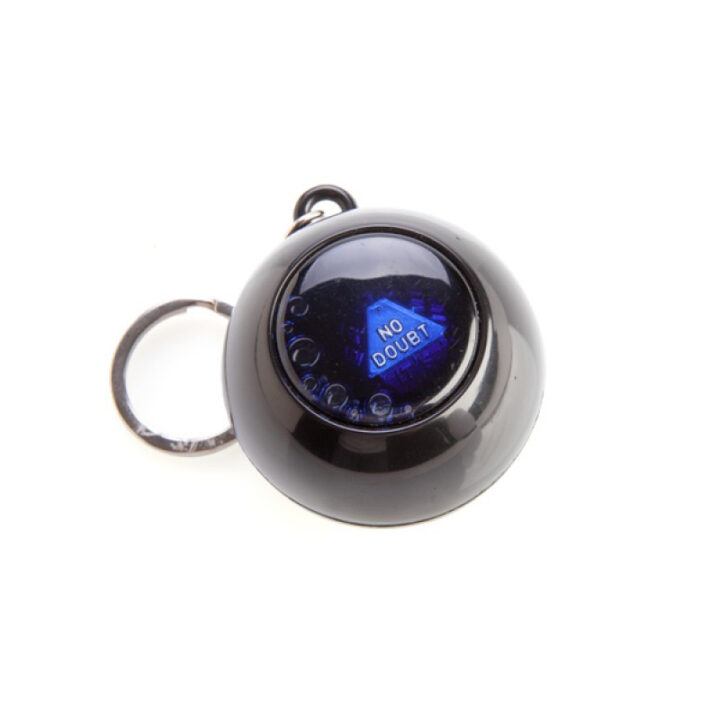 World's Smallest Magic 8 Ball - Keychain. Have all your big questions answered with this small Magic 8 Ball.