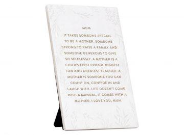 mum poem gift plaque