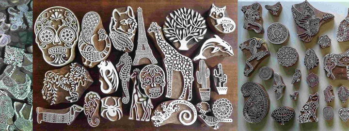 Wood Block Printing Stamps