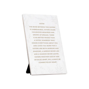 Sister Quote Gift Plaque